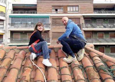 Rehabilitación de cubierta y pretil edificio protegido