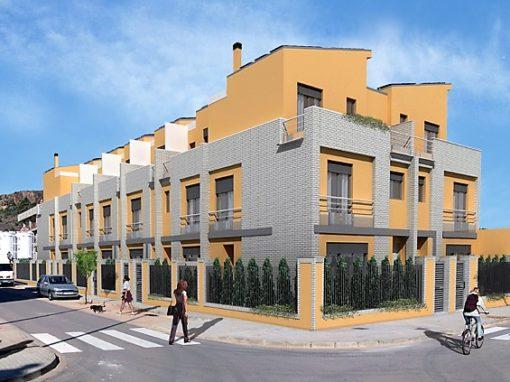 Edificio de 9 viviendas adosadas en Almenara con garaje comunitario